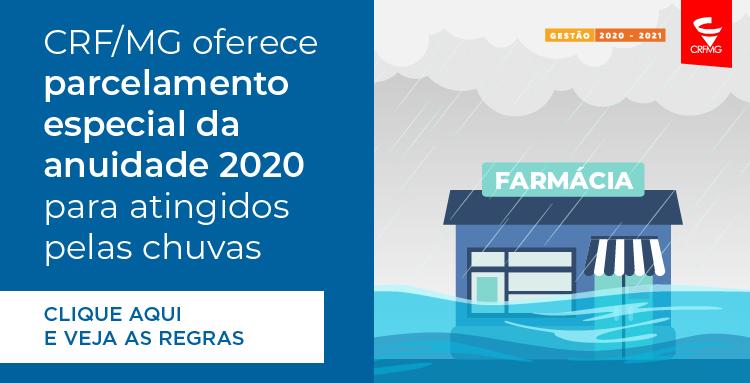 CRF/MG vai conceder parcelamento especial da anuidade para atingidos pelas chuvas
